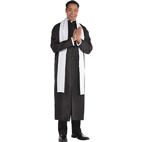 AMSCAN Priest Halloween Costume for Men, Standard, with Included Accessories