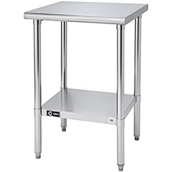 Amazing TRINITY EcoStorage NSF Stainless Steel Table, 24 Inch