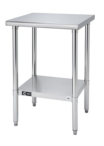 TRINITY EcoStorage NSF Stainless Steel Table, 24-Inch Commercial Stainless Steel Table