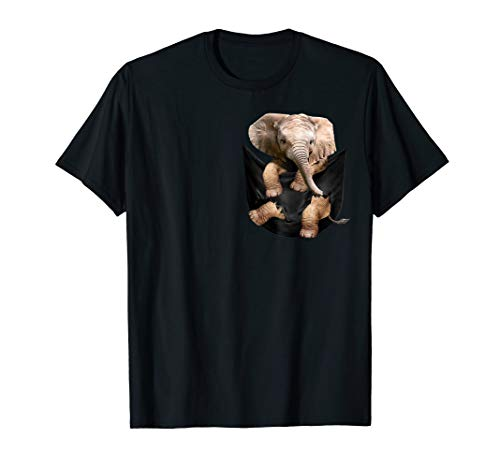 (Cute Elephant Pocket T-Shirt Christmas Gift)