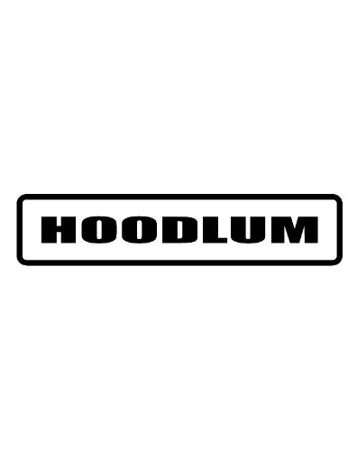 """Any and All Graphics Hoodlum 3"""" Wide Helmet Hard hat Vinyl Decal Sticker (Qty 3 PK)"""
