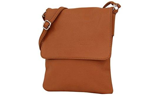 pour sacoche Sac bandoulière sac cognac cuir Moda italien NL602 à petit cuir femme en Ambra nappa vw1E8qnE