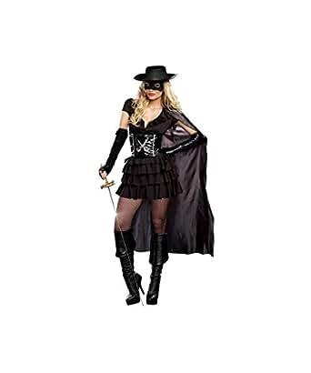 Double Edged Diva Sexy Bandit Zorro Womens Halloween Costume