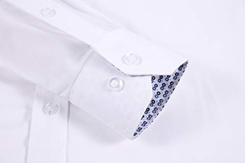 Mens Dress Shirts Wrinkle Free Regular Fit Long Sleeve Bamboo Casual Button Down Shirts 6