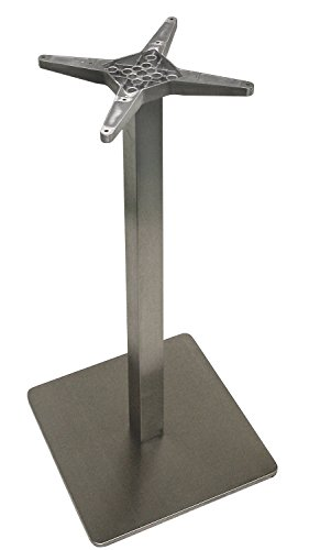 """ATC Futura Square Stainless Steel Low Profile Table Base,  Bar H, 20"""" x 20"""" Base x 40"""" H"""