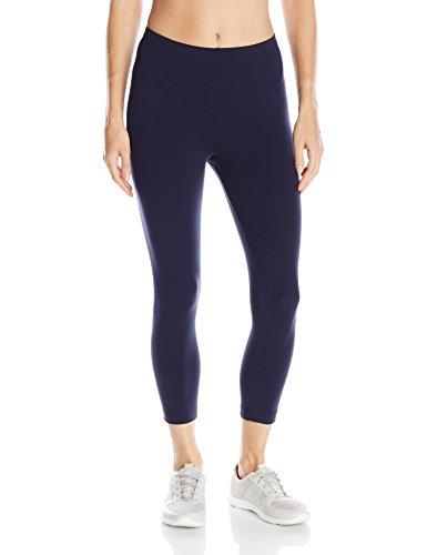 Danskin Women's Classic Supplex Body Fit Capri Legging, Midnight Navy, Medium - Danskin Nylon Leggings