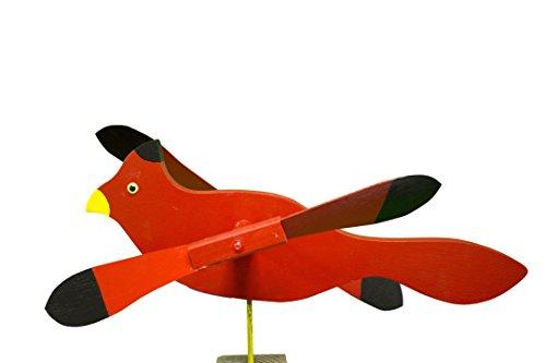 Cardinal Whirligig / Whirly Bird Garden Spinner