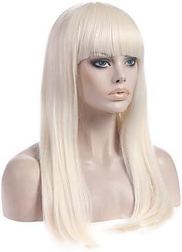 Ryu @ larga recta hellblond Lady Gaga Poker Face peluca Superstar mismo pelucas: Amazon.es: Belleza