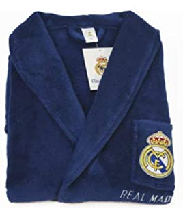 10XDIEZ Bata Real Madrid 306 Azul Royal - Medidas Albornoces/Batas Adulto - M (