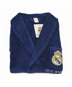 10XDIEZ Bata Real Madrid 306 Azul Royal - Medidas Albornoces/Batas Adulto - M (Mediana): Amazon.es: Hogar