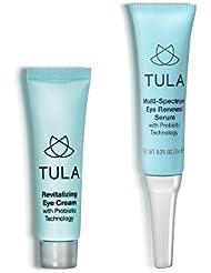 TULA Probiotic Skin Care Mini Eye Serum & Eye Cream Duo, 7g & 10g.