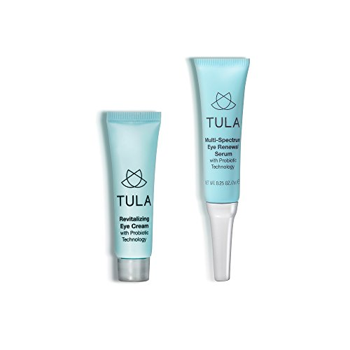 TULA Probiotic Skin Care Mini Eye Serum & Eye Cream Duo, 7g & 10g.