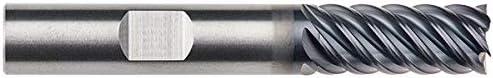.5000 RFX1061 RedLine Tools 6 Flute 2.1250 LOC .0300 Radius Single End Corner Radius Carbide End Mill 4.0000 OAL 1//2 AlTiN Coated Weldon Shank Type