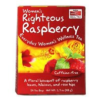 Women\'s Righteous Raspberry Tea, 24 Tea Bags by Now Foods (Pack of 2)