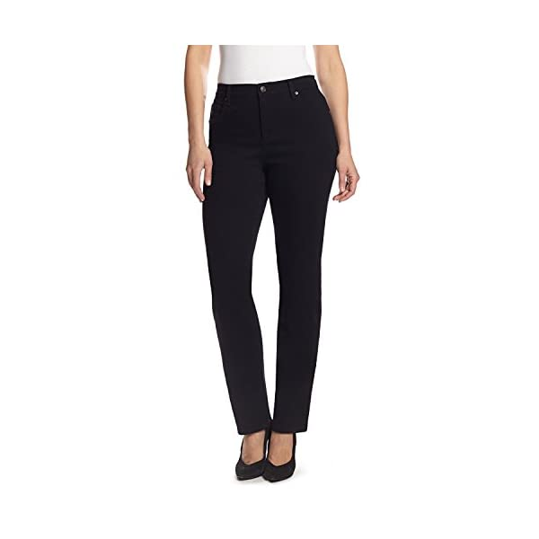 Gloria Vanderbilt Women's Amanda Classic Tapered Jean, Black, 16