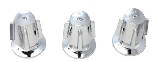 Shower Trim Kit Fits Price Pfister Compression Stem Shower, with Contempra Handles, Chrome Finish -By Plumb USA Contempra Shower Faucet