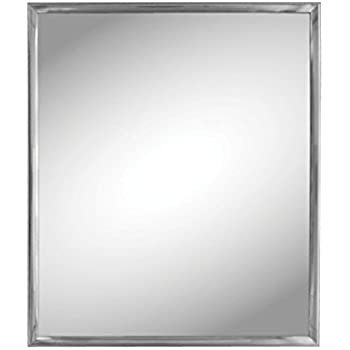 this item stealstreet sskioc539 silver trim wall mirror