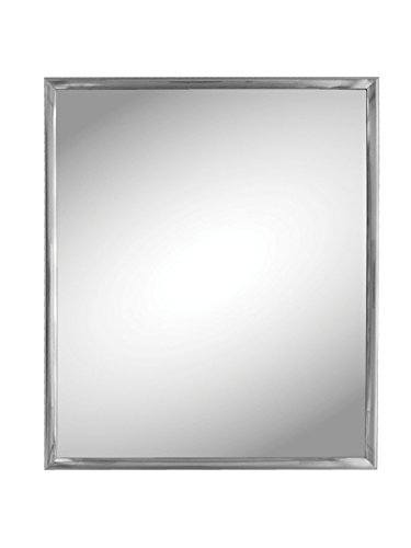 Kole Imports Silver Trim Wall - Mirrors Oval Bathroom Sideways