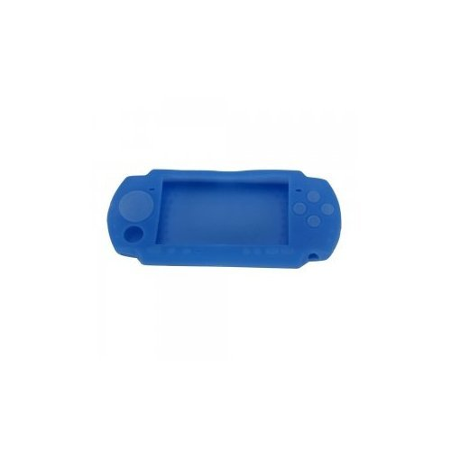 Silicone Soft Protective Case Cover for Sony PSP 3000 Blue (Sony Psp Slim Silicone)