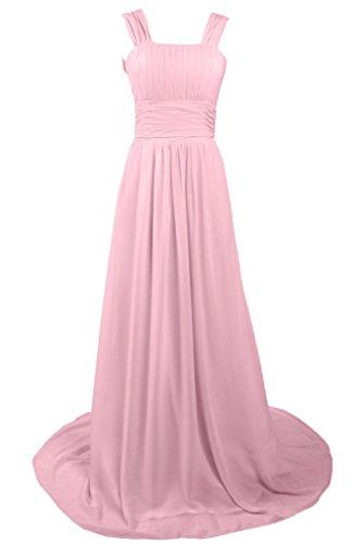 Maxi sera Line Pink formale Charming Sunvary abito da A Pageant 7axn8wgq