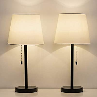 HAITRAL Table Lamp Set of 2