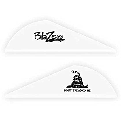 Image of Bohning Don't Tread On Me 2' Blazer Vanes White Don't Tread On Me Blazer Vane, 1000pk Fletches