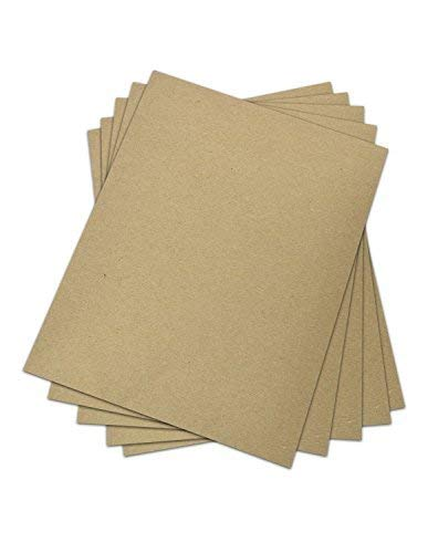 (25 Sheets Chipboard 30 pt (point) | Medium Weight Scrapbook Sheets | Brown Kraft Cardboard | 25 Sheets per Pack | 8.5 x 11 Inches)