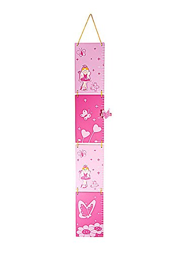 Amazon Pink Princess Height Growth Chart For Girls Bedroom Or