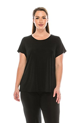 Jostar Stretchy New Big Top with Short Sleeve in Black Color in X-Large Size