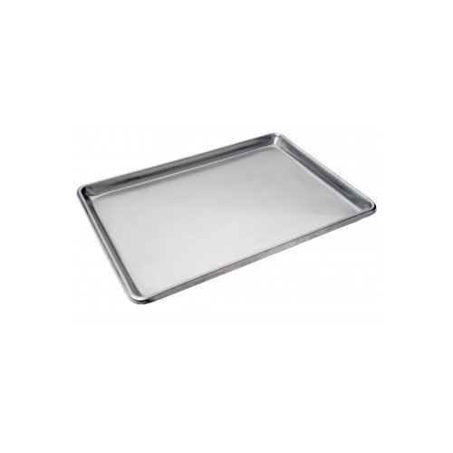 Focus Foodservice 901318SS Half Size Heavy Duty Stainless Steel Sheet Pan, 13'' x 18'' x 1'', 20 Gauge Stainless Steel,