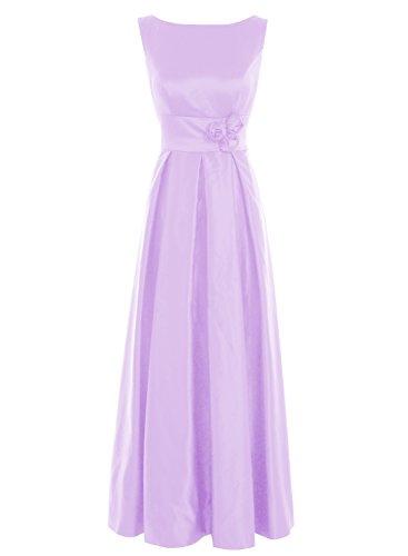 Bbonlinedress Vestido De Madrina Elegante Largo Sin Mangas Vestido De Ceremonia Lavanda