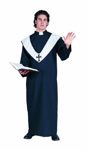 [RG Costumes Men's Deluxe Priest, Black, One Size] (Priest Halloween Costume Deluxe)