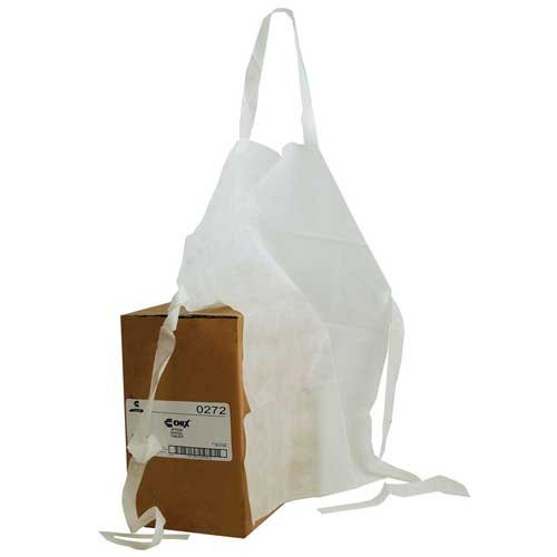 Chicopee Apron, Paper Adult White Plain Bib -- 100 per case.