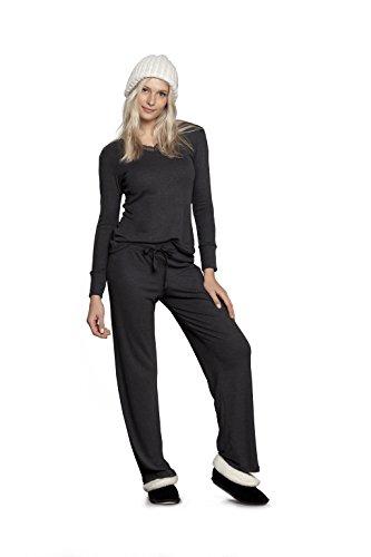 Ensemble pyjama - Manches longues & pantalon - Noir - Femme