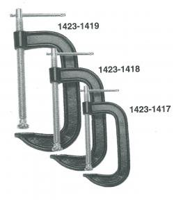 Firepower 1423-1419 Malleable Iron C-Clamp, 4-Inch