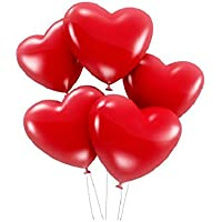 5 Pieces Red Heart Party Balloons