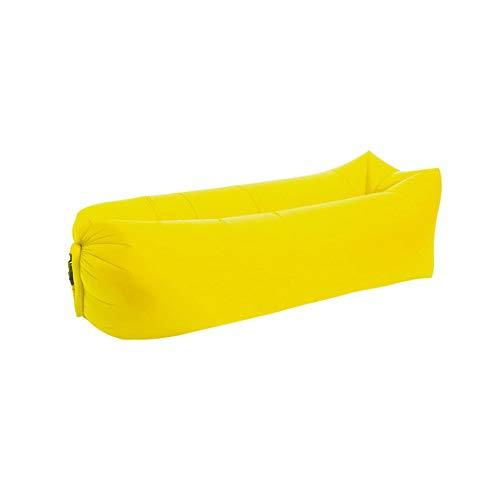 Outdoor Inflatable Mattress Picnic Blanket Camping Beach Travel Swimming Mat Air Soft Bedding Sleeping Pad,Yellow,800G