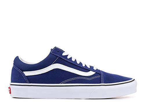 Vans Unisex Adults Old Skool Classic Suede/Canvas Sneakers, Blue (Estate Blue/True White), 9.5 UK (44 EU)