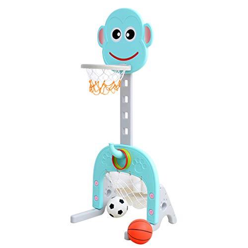 Netball Estantería de Baloncesto para niños El bebé Puede Levantar la Canasta Marco de portería de fútbol para el hogar...