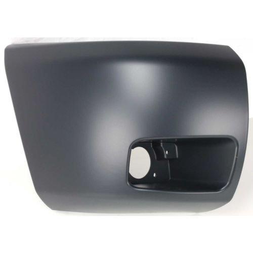 Perfect Fit Group C011101 Side Bumper Face Bar Cap W// Fog Light Hole Primed Silverado 1500 Front Bumper End RH