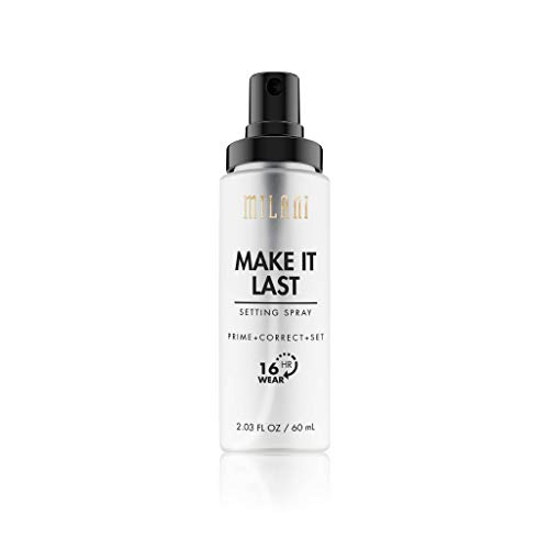 Milani Lightweight Foundation - Milani Make It Last Setting Spray - Prime + Correct + Set (2.03 Fl. Oz.) Vegan, Cruelty-Free Makeup Setting Spray - Prime & Correct Skin for Long-Lasting Wear
