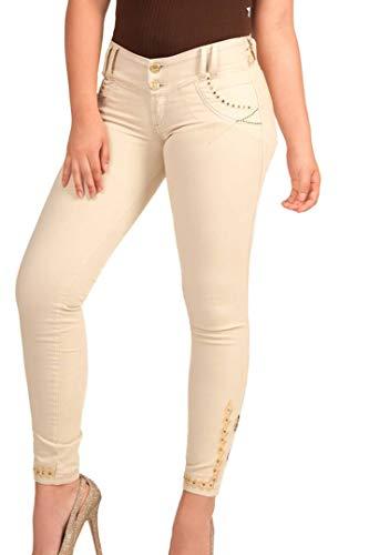 Cheviotto Jeans 8 Ajustado Elástico Mujer Pantalón Colombiano De Talla up Cola Vaquero Levanta Push rIfUOr