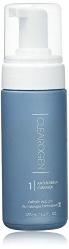 Clearogen Foaming Cleanser for acne and blemishes, Natural Ingredients, Fresh Botanical, Gently cleanses dirt, oil, and makeup - 4.2 fl. oz