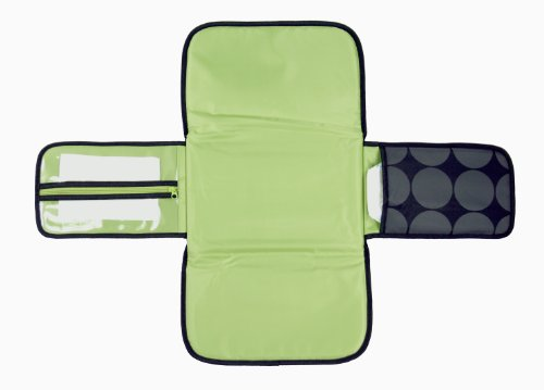OiOi Charcoal Dot - Cambiador (forro color verde lima), diseño de lunares, color gris