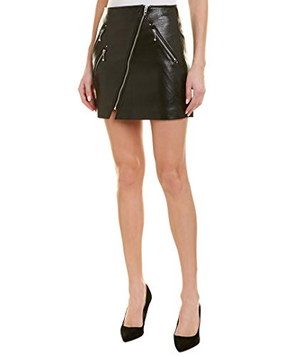 (Blank NYC Women's Vegan Leather Mini Skirt with Zipper Detail in House Party House Party 27)