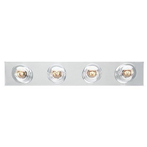 Westinghouse Lighting 6641100 Four-Light Bath Bar Chrome Hollywood Four Light