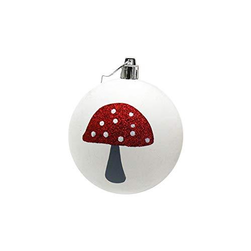 DongDong☃ 1Pcs Christmas Mushroom Matte Balls Baubles Party Xmas Tree Decorations Hanging Ornament Decor,Seasonal ()