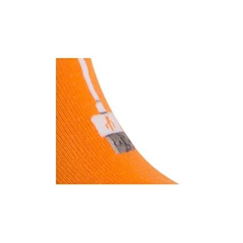 Invisibles Chaussettes Motif En Achile Connexion Orange Coton wvqqU