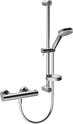 Hansa thermostat shower mixer wall rail-set, Hansaprisma 4808, chrome 48080121