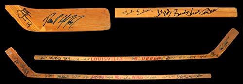 Vintage Detroit Red Wings Greats Multi Signed Stick 35 Sigs Gordie Howe COA - JSA Certified - Autographed NHL Sticks